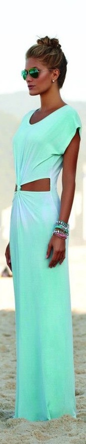 dress,long dress,blue dress,maxi dress,mint dress,tye dye dress