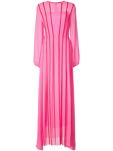 gown women silk purple pink dress