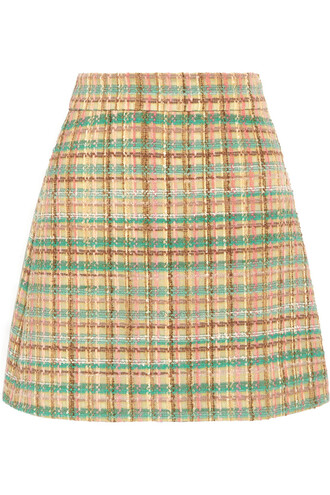 skirt mini skirt mini wool yellow