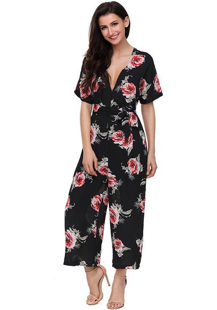 jumpsuit floral jumpsuit party jumpsuits romper