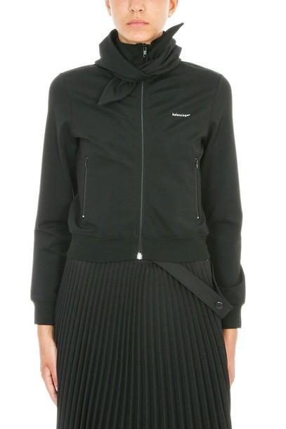 Balenciaga sweatshirt zip black sweater