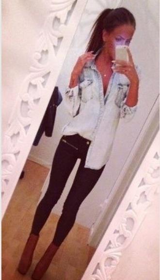 jeans black jeans black zips style