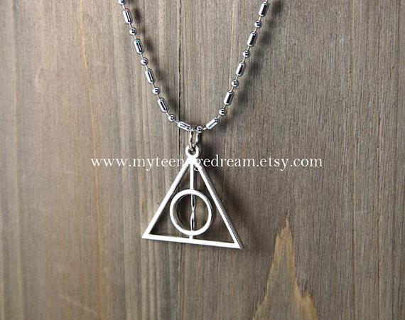 Harry potter deathly hallows necklace by myteenagedream on etsy