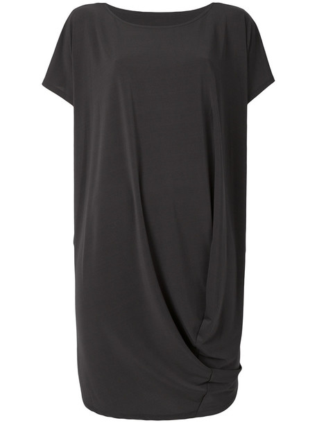 Issey Miyake dress shift dress women draped grey