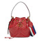 Gucci - gg marmont quilted leather bucket bag - women - leather/nylon/microfibre/metal - one size, red, leather/nylon/microfibre/metal