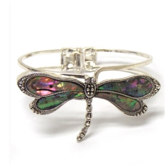 jewels bracelets bangle dragonfly abalone accessories
