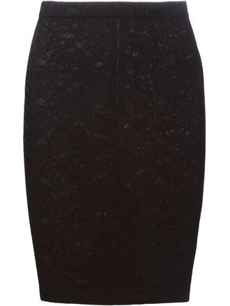 skirt pencil skirt lace floral black