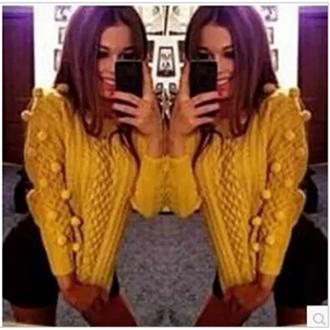 sweater long sleeves o neck fashion pullover yellow twist spandex bra blue grey