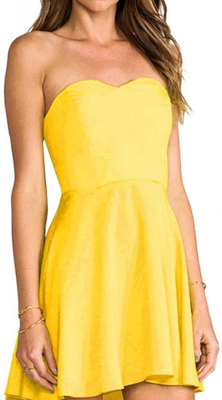 Lizhoumil women's summer tube top mini dress