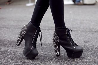 shoes black heels spikes grunge