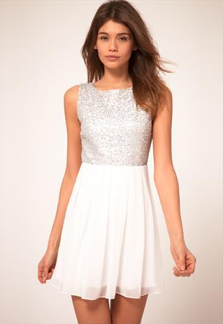 TFNC Babydoll Dress With Sequin Bodice | AmalieChris | ASOS Marketplace