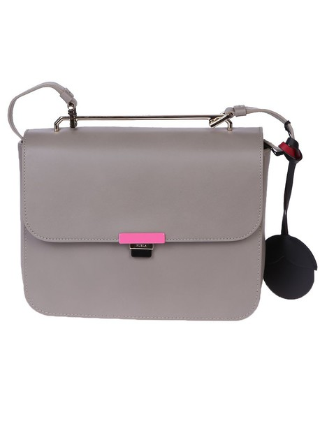Furla bag shoulder bag leather beige