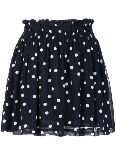 Ganni skirt mini skirt mini women blue