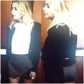 shorts,pretty little liars,striped shorts,stripes,business casual,cute,hanna marin,wrap,lovely