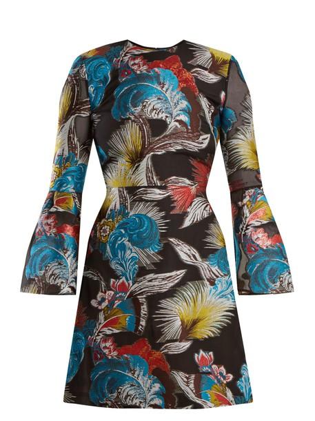 MARY KATRANTZOU dress mini dress mini jacquard print black