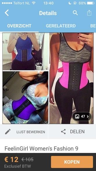 shirt waist belt top work out  clothing