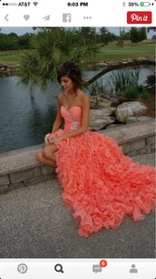 dress,coral-orange-pink