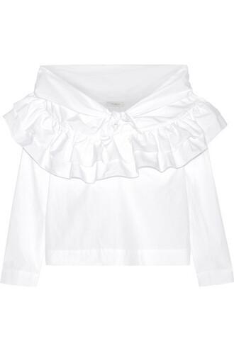 blouse white cotton top