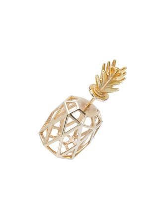 women pineapple gold silver grey metallic jewels