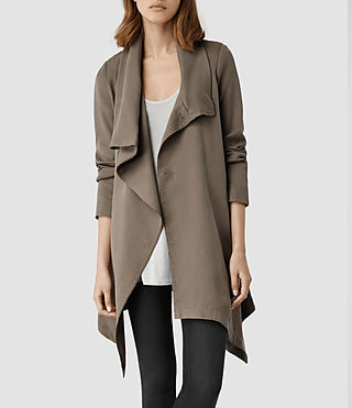 AllSaints Hoxton Monument Coat | Womens Trench Coats