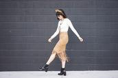 hair accessory,a fashion nerd,blogger,tiara,fringe skirt,suede skirt,black boots