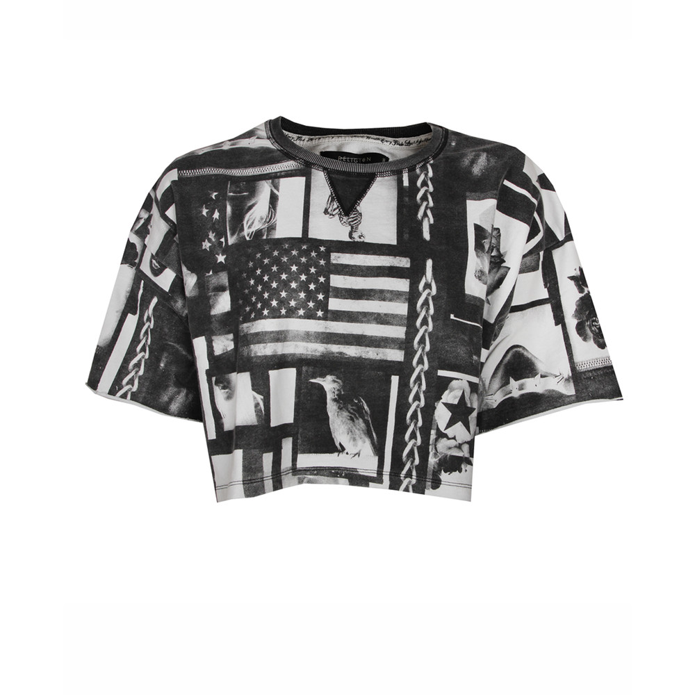 Womens Religion Perception Flag Print Top