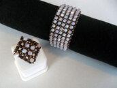jewels,lilac,cuff bracelet,handmade,beadwork