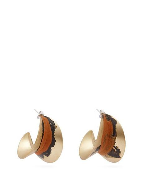 Albus Lumen - Painted Earrings - Womens - Orange