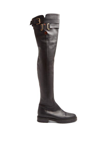 Valentino leather boots leather black shoes