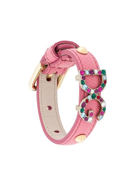 Dolce & Gabbana women leather purple pink jewels