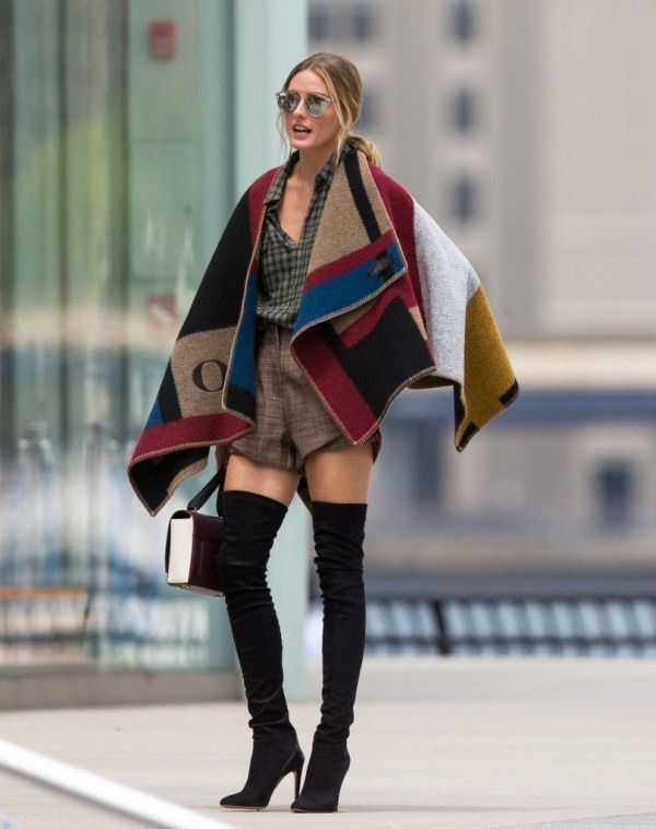 cape olivia palermo olivia burberry prorsum burgundy mustard checkered checkered burberry prorsum coat shoes designer fashion class classy summer outfits