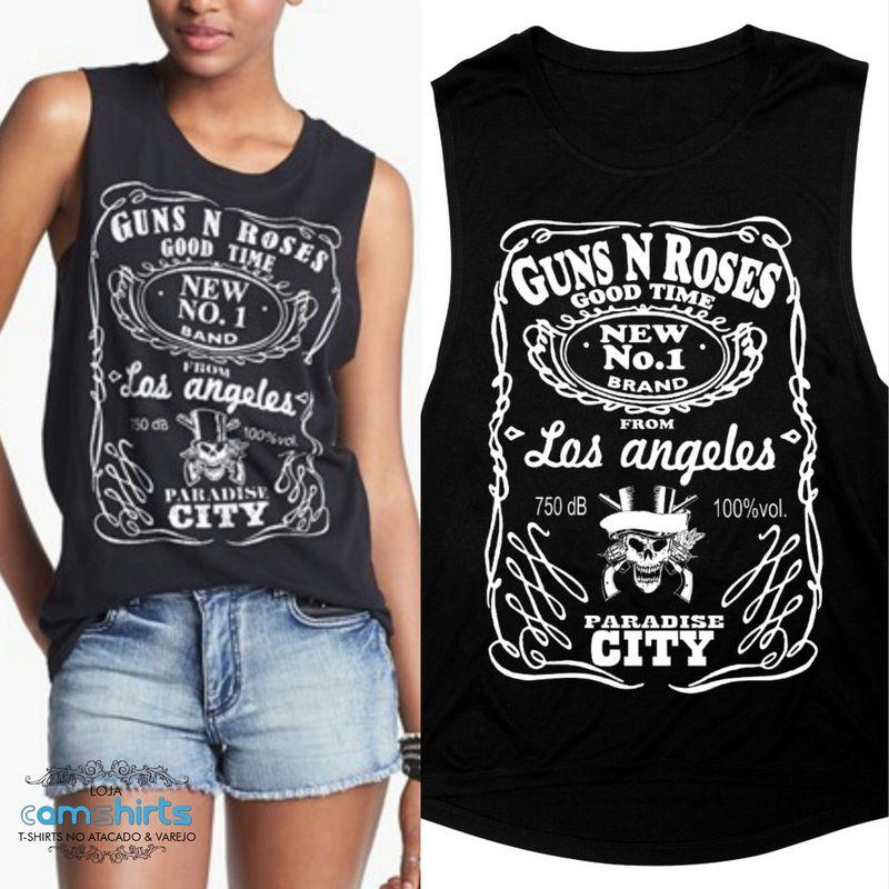Muscle Tee Feminina Guns N' Roses - Cam Shirts