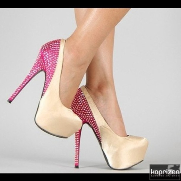 shoes high heels prom heels pink princess baby pink heels