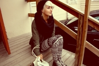 tights aztec grey pants printed leggings pants leggings