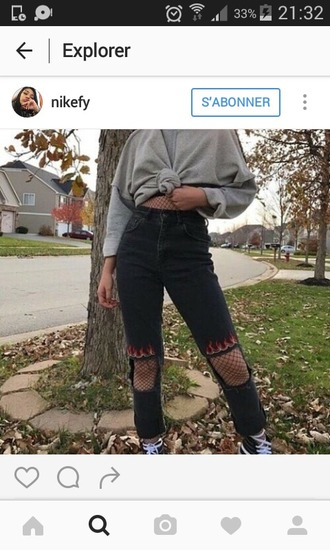 jeans pantalon denim black denim black jeans fire flames flames jean flames denim vintage style fashion old indie rock look instagram black ripped jeans