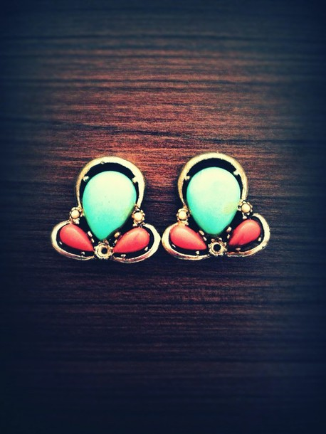jewels earrings turquoise jewelry turquoise red coral silver vintage vintage earrings
