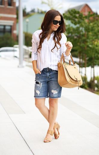 dress corilynn blogger top shorts shoes bag sunglasses