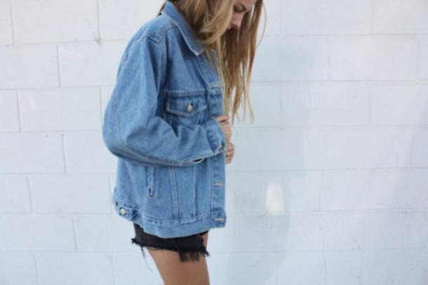 Jacket Denim Jacket Denim Swag Yolo Hipster Tumblr Girl