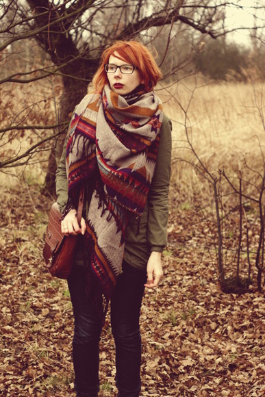 scarf fall outfits boho hippie hippie chic