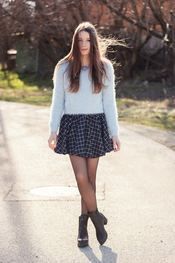 iemmafashion sweater skirt shoes jewels