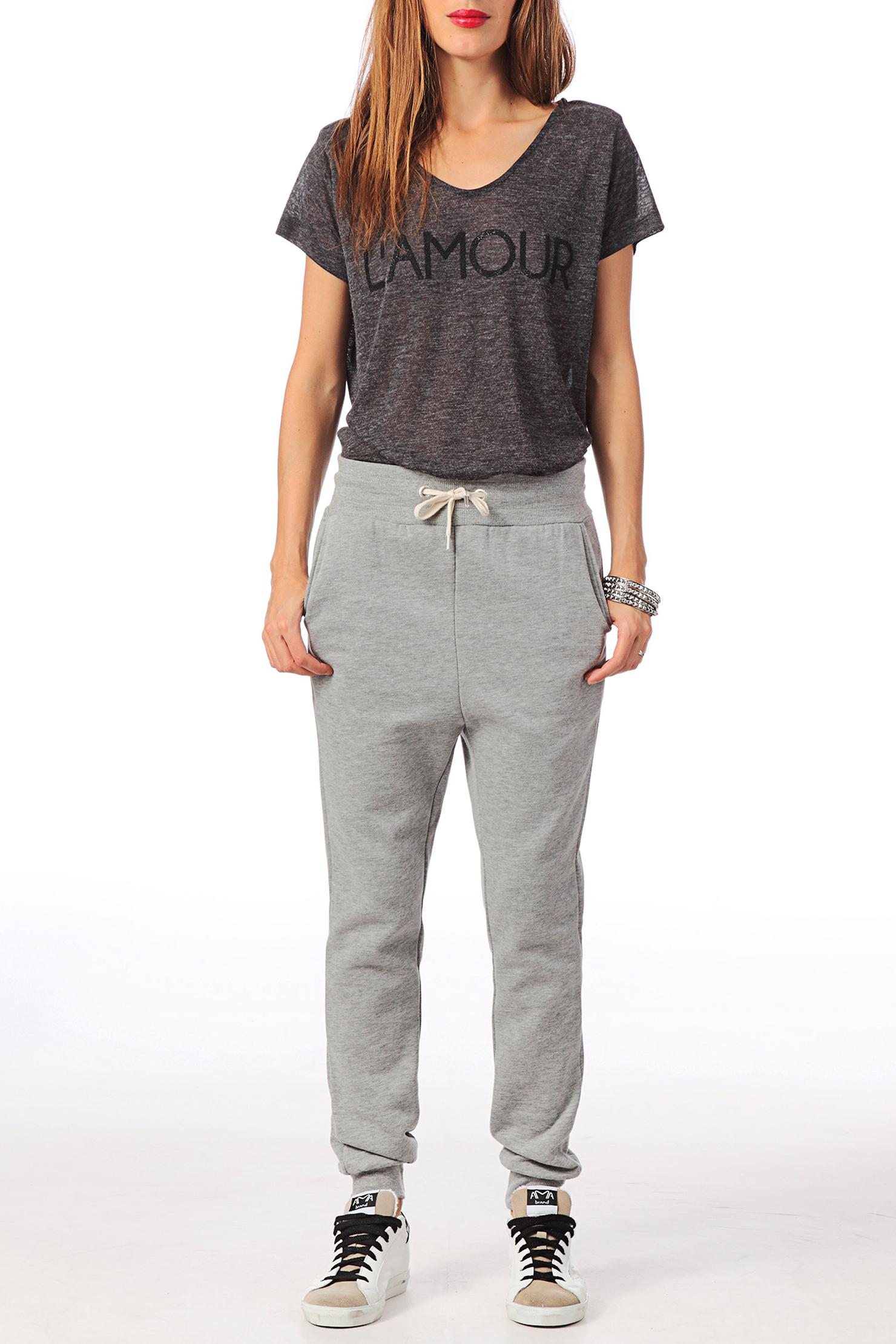 Sport / Homewear - frati string loose sweat pants swt - Grey