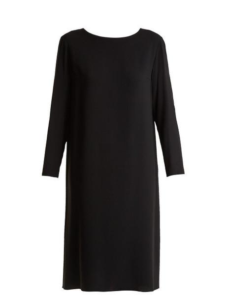 The Row - Larina Crepe Tunic Dress - Womens - Black