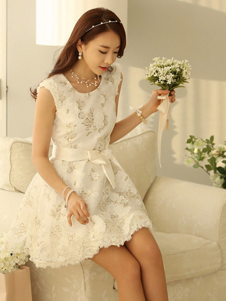 White Lace Dresses For Girls Dress Lace White Dress Organza