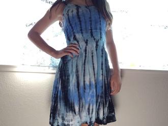 dress tie dye dress summer dress blue dress
