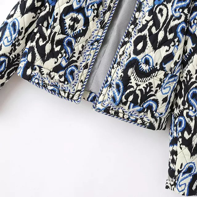Black Long Sleeve Embroidered Crop Coat - Sheinside.com