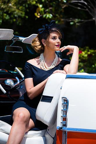 hair accessory shiva safai celebrity dress black dress necklace classy dress classy hairstyles