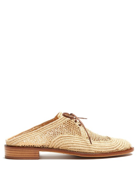 CLERGERIE shoes lace tan light