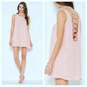 dress,midi,midi dress,open back,pink dress,short blush pink dusty rose dress,mini dress