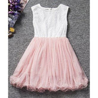 dress pink white girly prom party kawaii cute feminine trendsgal.com