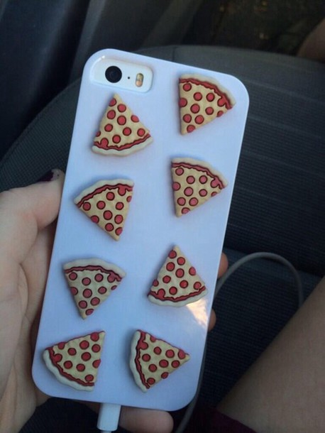 phone cover 3d pizza case turquoise